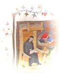 Monje copista medieval