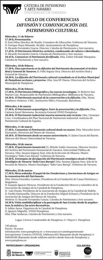 Ciclo de conferencias Difusión y Comunicación del Patrimonio Cultural